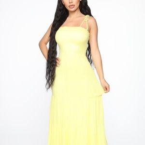 Yellow Maxi Sundress - NEW